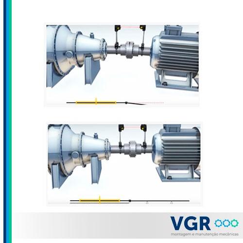 Alinhamento de eixos de turbinas