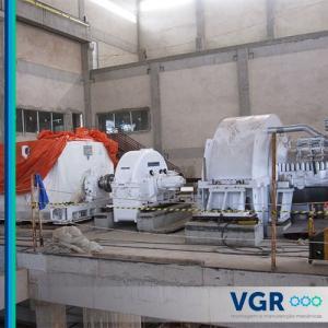Alinhamento de turbina a vapor